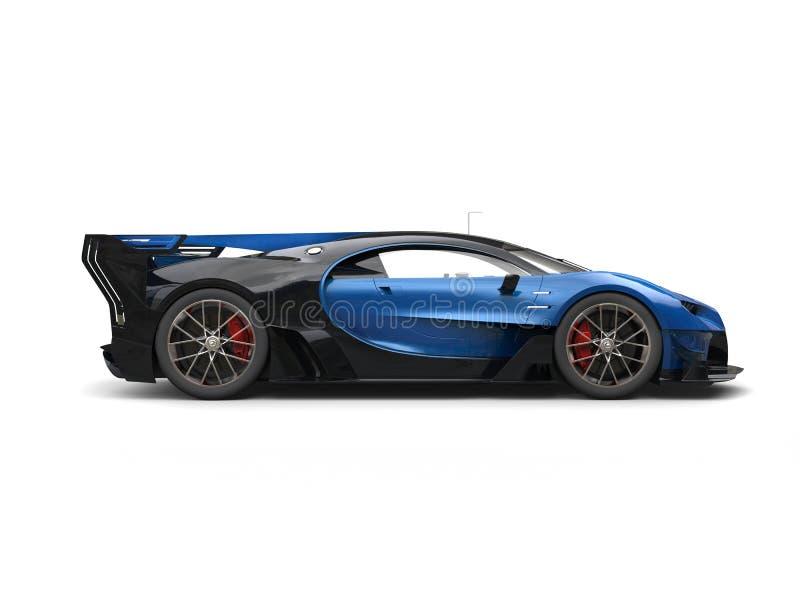 Vue de côté automobile de course superbe bleue puissante illustration libre de droits