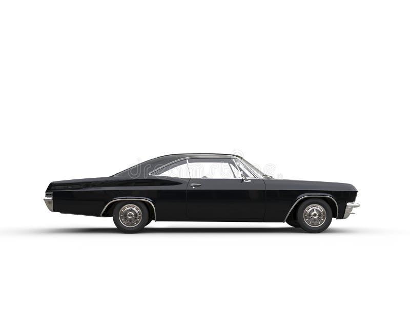 Vue de côté automobile de noir classique de muscle photo libre de droits