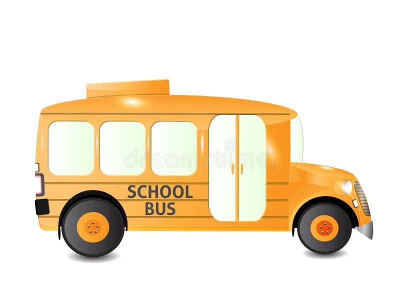 Vue de côté d'autobus scolaire illustration stock