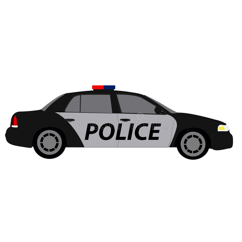 Download Vue De Côté Du0027une Voiture De Police Illustration De Vecteur    Illustration Du
