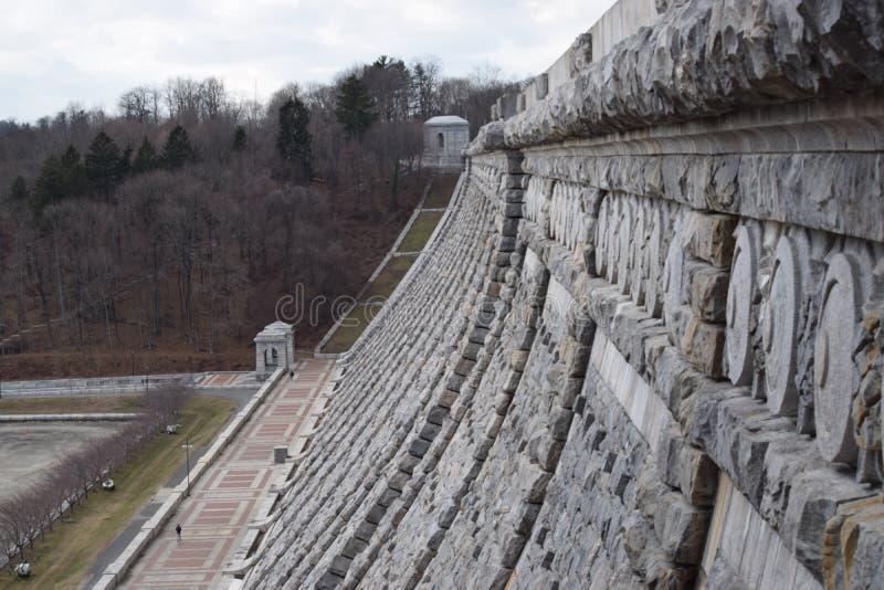 Vue de côté de barrage image libre de droits