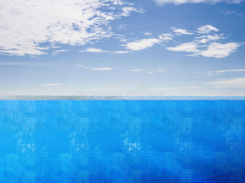 Vue de côté de piscine illustration de vecteur