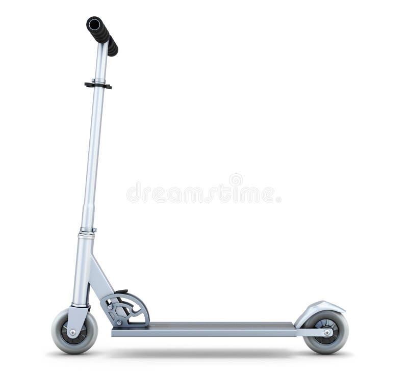 Vue de côté de scooter illustration de vecteur