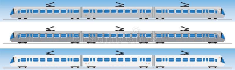 Vue de côté de voiture de tram ou de voiture de chariot illustration stock