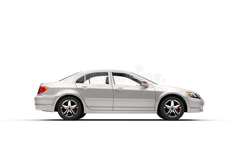 vue de c t gauche de voiture blanche d 39 affaires illustration stock image 59001413. Black Bedroom Furniture Sets. Home Design Ideas