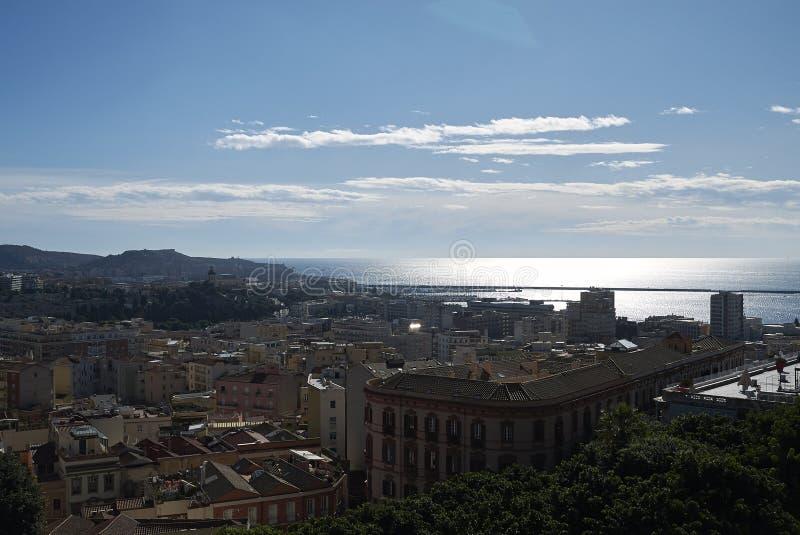 Vue de Cagliari images libres de droits
