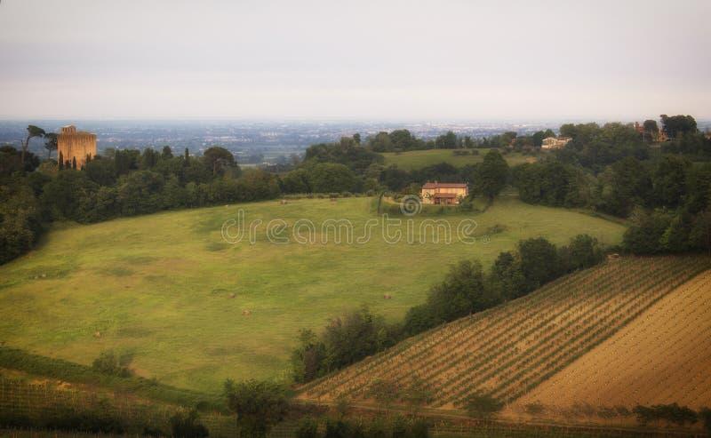 Vue de campagne d'Emilia Romagna image stock