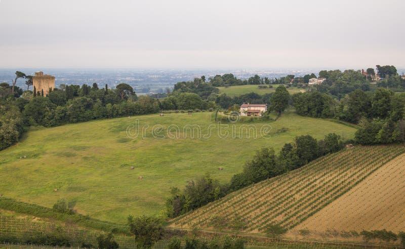 Vue de campagne d'Emilia Romagna photos libres de droits