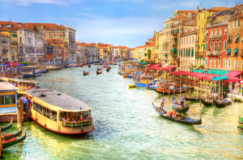 Vue de canal grand de Venise image libre de droits