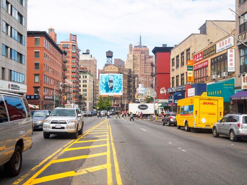 Vue de Canal Street chez Chinatown à New York City photo stock