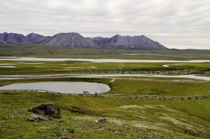 Vue de canalisation de région sauvage image stock