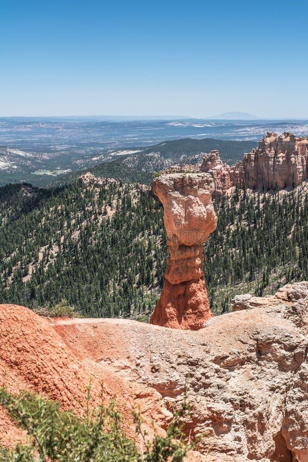 Vue de canyon d'Agua, Bryce Canyon National Park, Utah image stock