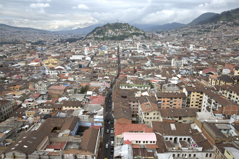 Vue de capitale de Quito de l'Equateur images stock