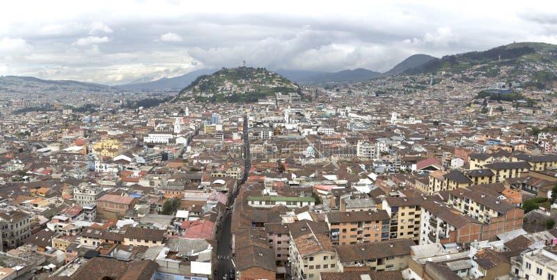 Vue de capitale de Quito de l'Equateur images libres de droits