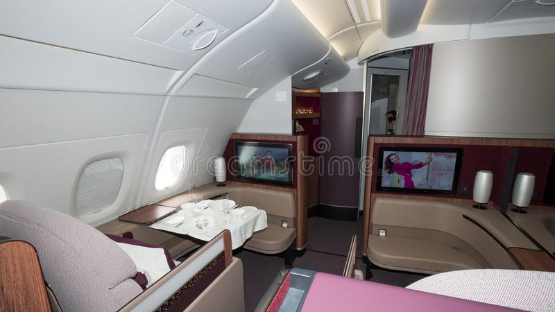 Vue de carlingue d'Airbus A350 photographie stock