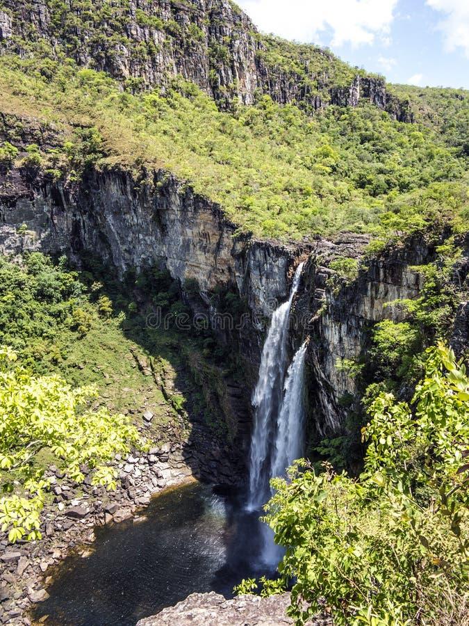 Vue de cascade de Caracol - Canela photo libre de droits