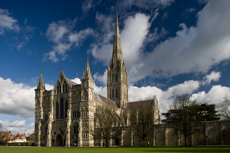 Vue de cathédrale de Salisbury photo stock