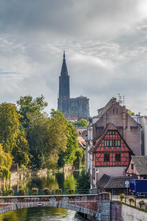 Vue de cathédrale de Strasbourg photo libre de droits