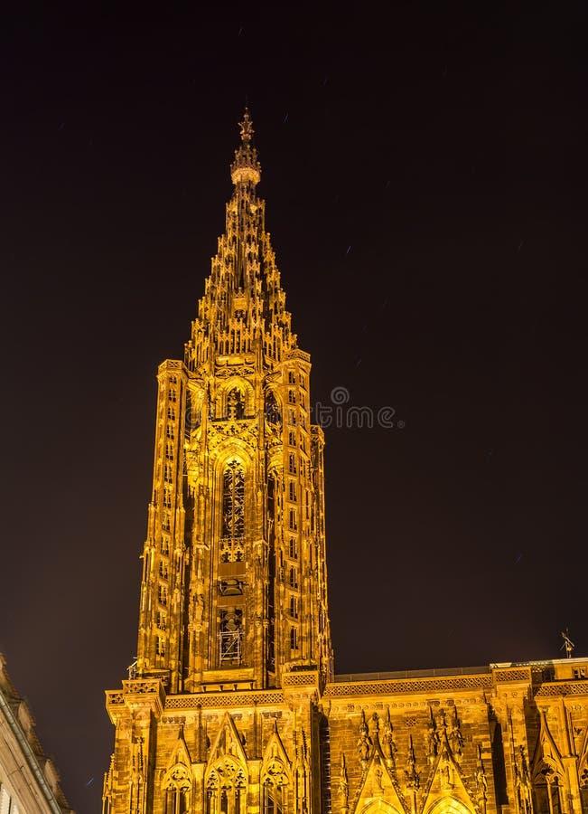Vue de cathédrale de Strasbourg, Notre-Dame De Strasbourg - Alsace, France photographie stock libre de droits