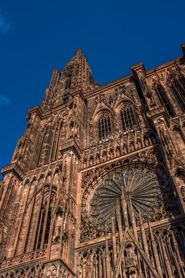 Vue de cathédrale de Strasbourg de prise de masse alsace image libre de droits
