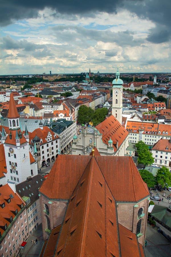 Vue de centre de la ville de Munich images libres de droits