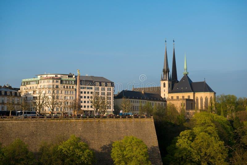 Vue de centre de la ville historique du luxembourgeois image stock