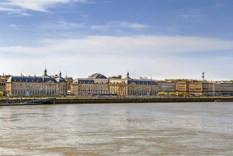 Vue de centre de la ville de Bordeaux, France photographie stock libre de droits