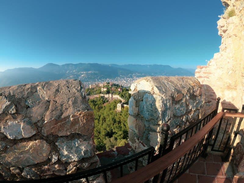 Vue de château d'Alanya Architecture, citadelle photographie stock libre de droits