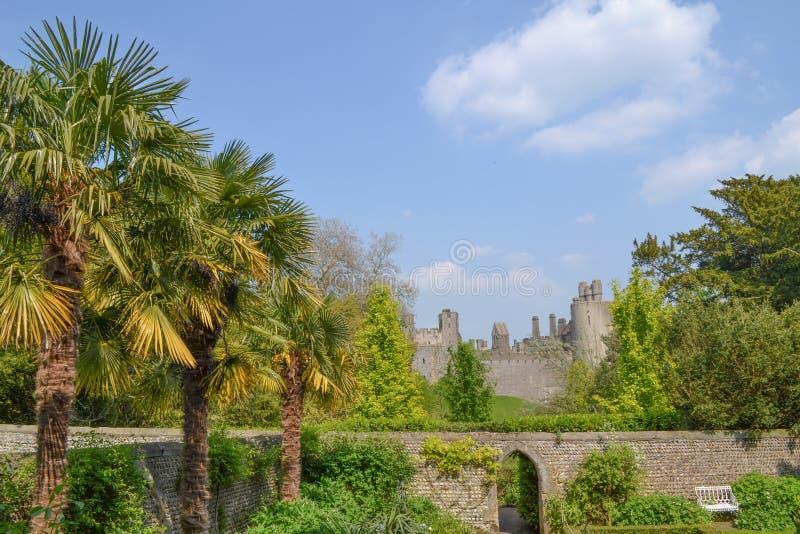 Vue de château d'Arundel photographie stock