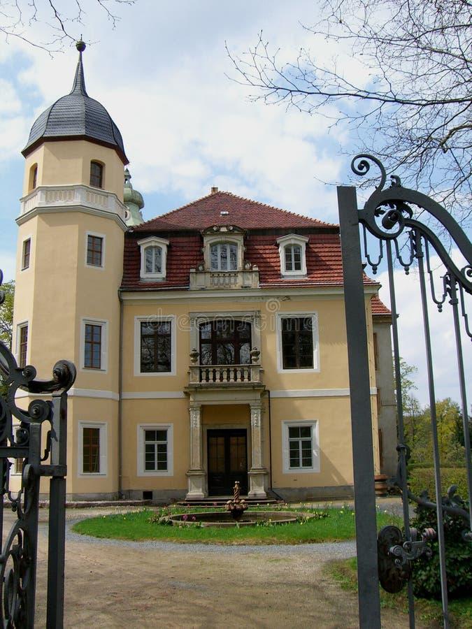 Vue de château de Hermsdorf photo libre de droits