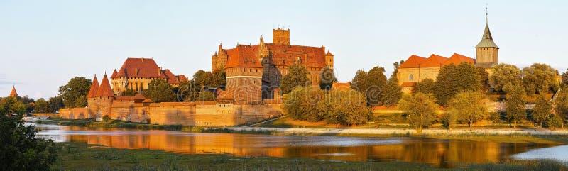 Vue de château de Malbork en Pologne image libre de droits
