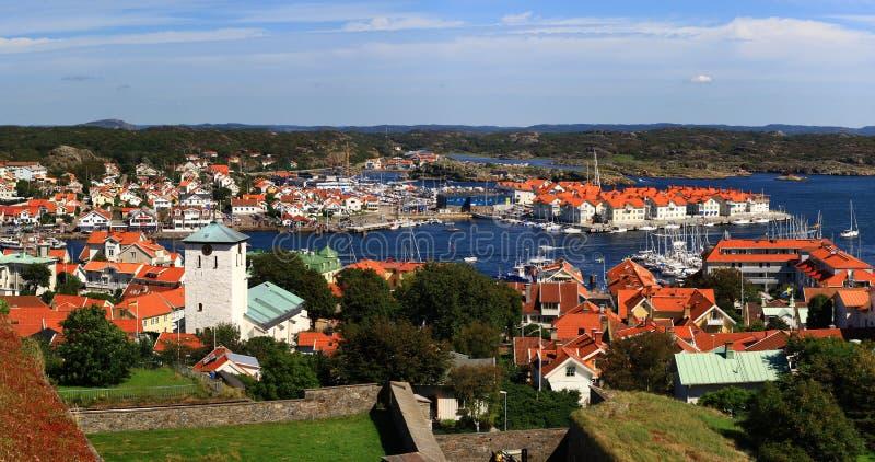 Vue de château de Marstrand photo libre de droits