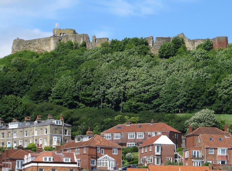 Vue de château de Scarborough image libre de droits