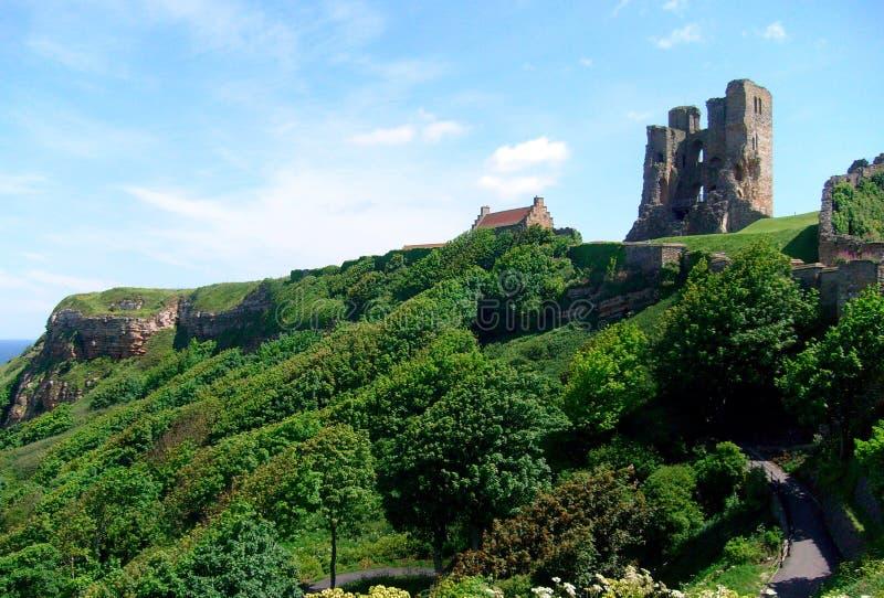 Vue de château de Scarborough photo libre de droits