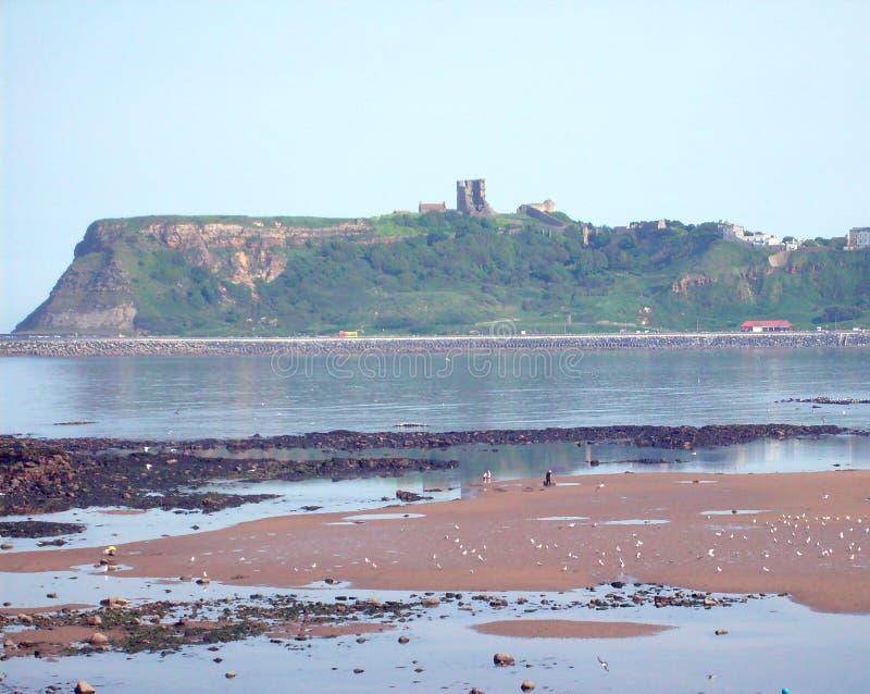 Vue de château de Scarborough images stock