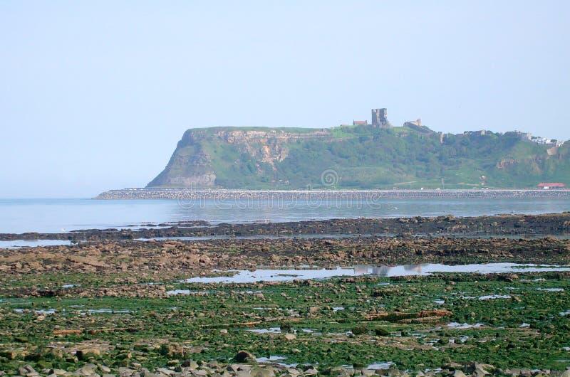 Vue de château de Scarborough images libres de droits