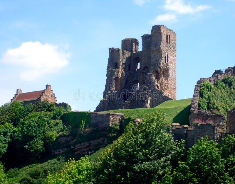 Vue de château de Scarborough photo stock