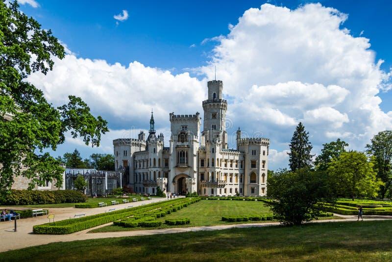 Vue de château Hluboka NAD Vltavou de la Renaissance image stock