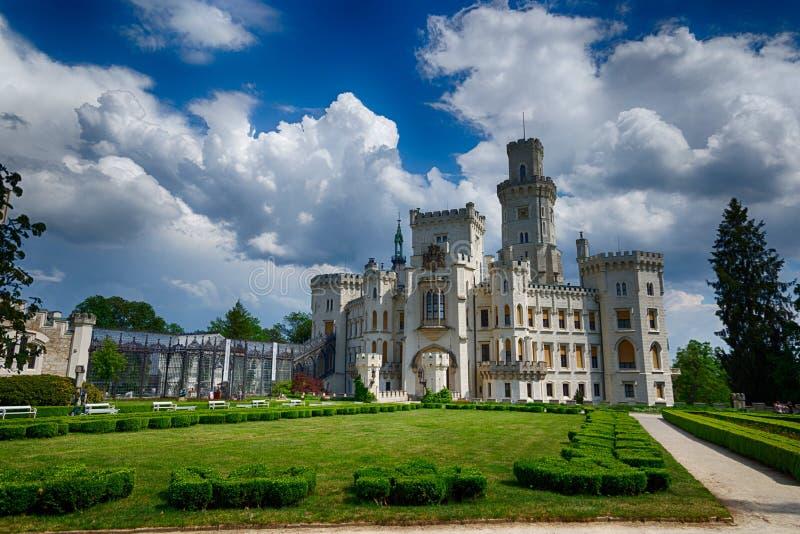 Vue de château Hluboka NAD Vltavou de la Renaissance photos libres de droits