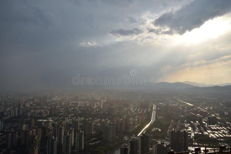 Vue de chaîne de télévision de Pékin photographie stock