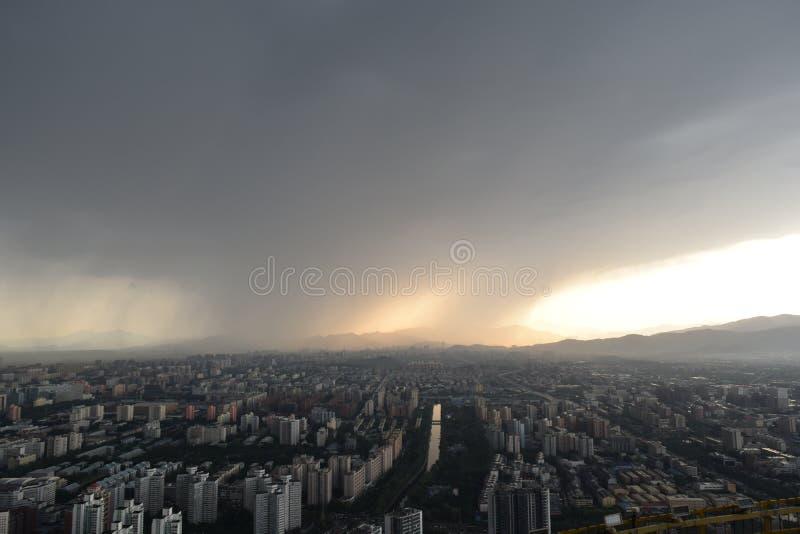 Vue de chaîne de télévision de Pékin photo stock
