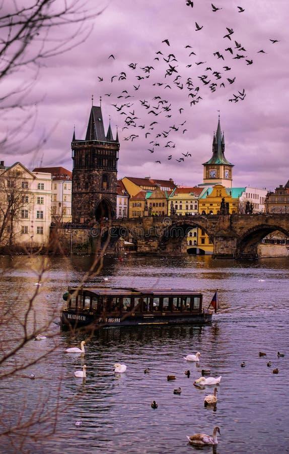Vue de Charles Bridge, Prague photographie stock