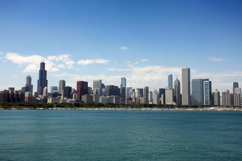 Vue de Chicago de planétarium d'Adler photo libre de droits