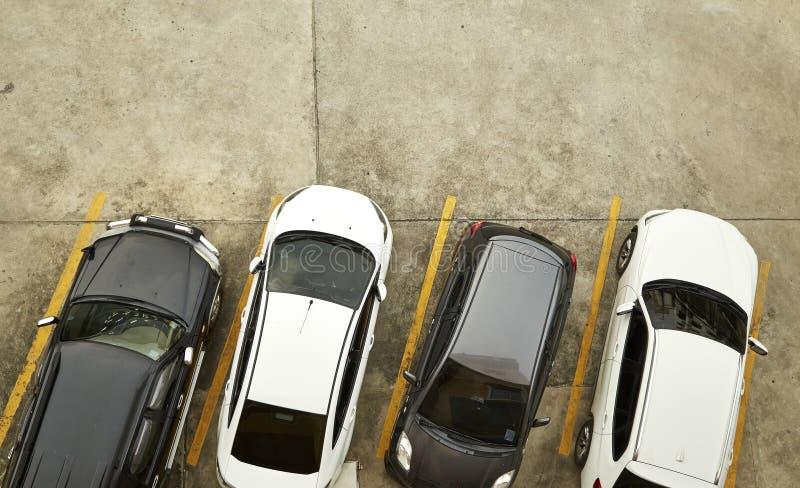 Vue de ci-dessus de la voiture photographie stock libre de droits