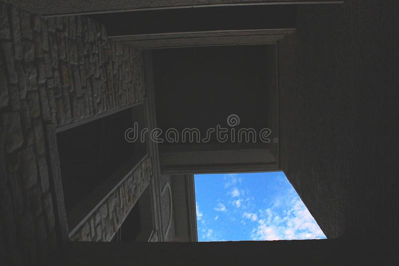 Vue de ciel photo stock