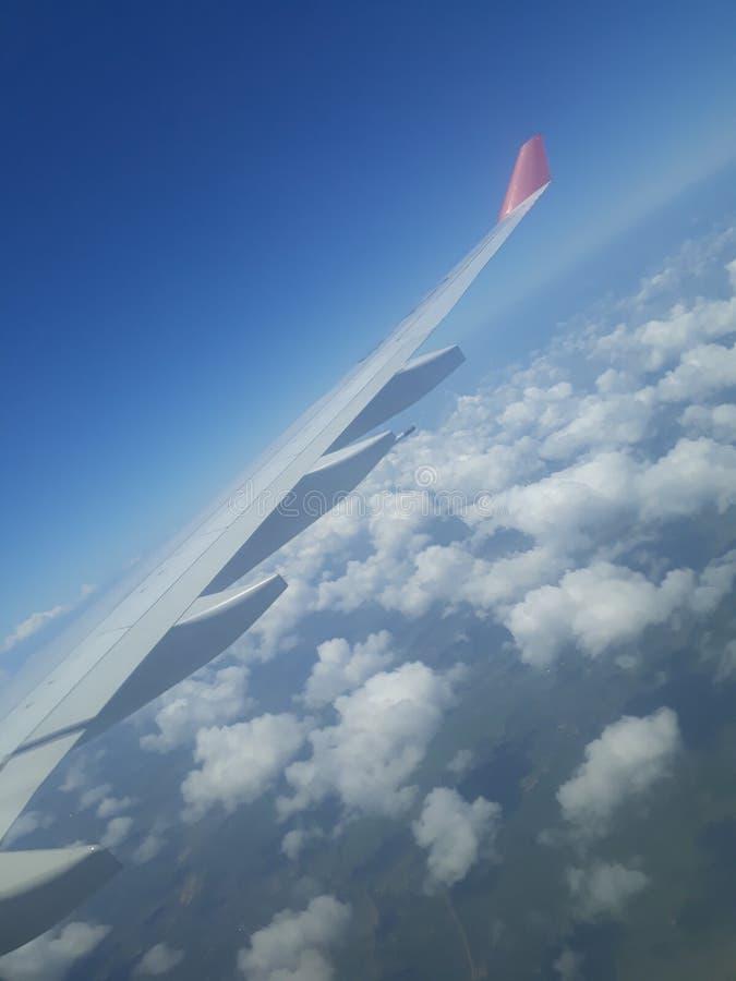 Vue de ciel de fenêtre plate photos libres de droits
