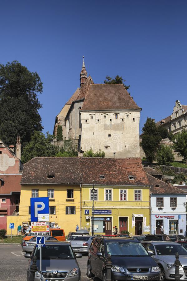 Vue de citadelle în la Transylvanie, Roumanie de Sighisoara images stock