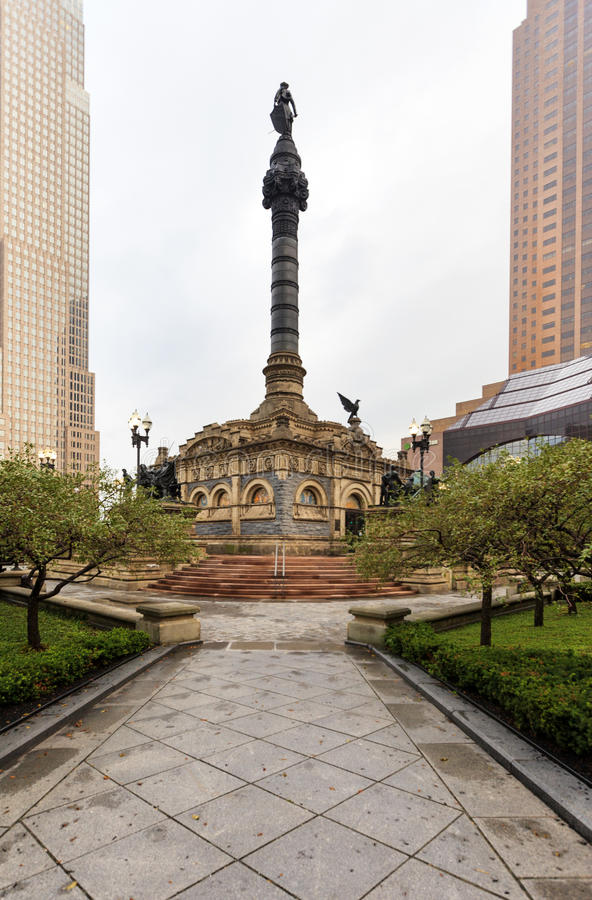 Vue de Cleveland Public Square, Ohio, Etats-Unis image libre de droits