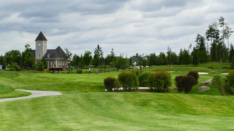 Vue de club de golf de domaine d'Aglalrov photos stock