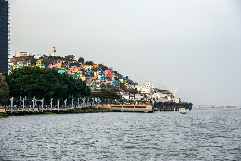 Vue de colline de Santa Ana à Guayaquil, Equateur photo stock